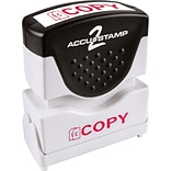 ACCUSTAMP2® Pre-Inked Shutter Stamp with Microban®, Red, Each (035594)