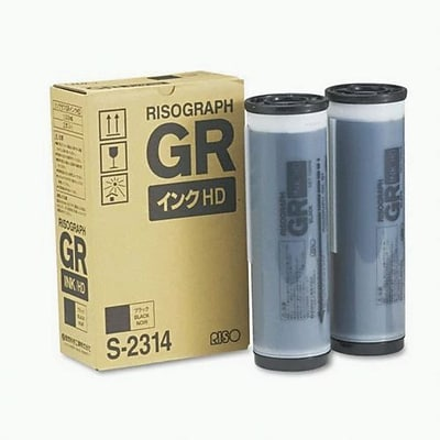 Risograph Black Ink Cartridge (S2314), Multi-pack (2 cart per pack)