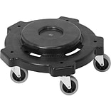 Genuine Joe Round Dolly, Black