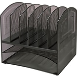 Lorell Horizontal Vertical Mesh Desk Organizer, Black