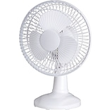 Lorell Desk Fan, White