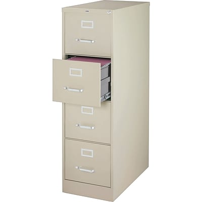 Lorell Vertical File Cabinet, Putty, 4 x File Drawer(s)