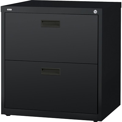 Lorell Lateral File, Black, 30 x 18.6 x 28.1