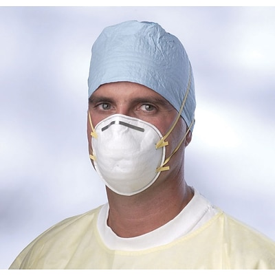 Medline N95 Cone-style Particulate Respirator Masks; White, 24/Pack