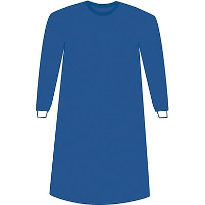 Prevention™ Plus Impervious Surgical Gowns, Blue, Large, Extra Long, Hook and Loop, 24/Pack