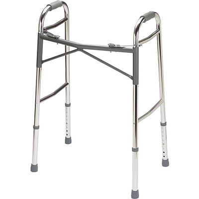 Guardian Signature™ Heavy-duty Basic Folding Walkers, Adult Bariatric, 32 1/2 - 39 1/2 H, Each