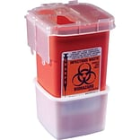 Medline Phlebotomy Sharps Containers; 1 qt, 100/Pack