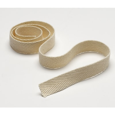 Medline 100% Cotton Unbleached Twill Tapes, Unbleached, 1/2