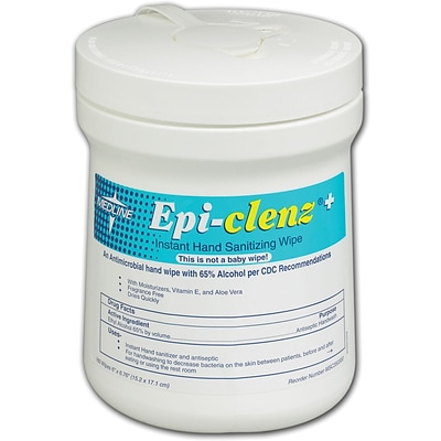 Epi-Clenz+ Instant Hand Sanitizing Wipes; 12/Pack, 6 x 6 3/4 Dimension