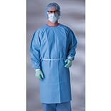 Kazzmere AAMI Level 3 Isolation Gowns, Blue, Regular/Large, Knit Cuff Wrist, 50/Pack