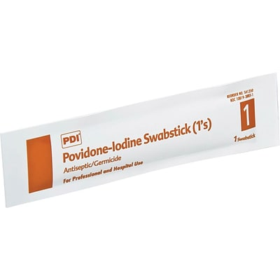 PDI® PVP Iodine Prep Swabsticks, 500/Pack