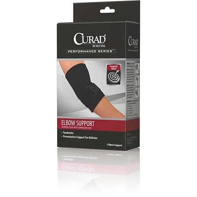 Curad® Elbow Sleeve With Compression Straps, Small, 6 L x 7 W, 4/Pack