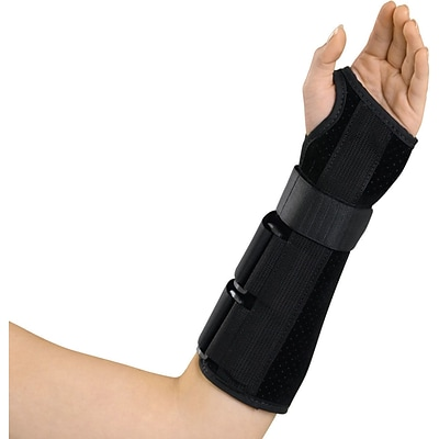 Medline Deluxe Wrist and Forearm Splints, Small, Left Hand, Each