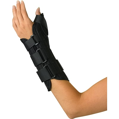 Medline Wrist and Forearm Splints with Abducted Thumb, Small, Left Hand, Each
