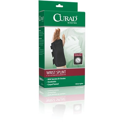 Curad® Right Wrist Splints, Medium, Retail Packaging, 4/Pack