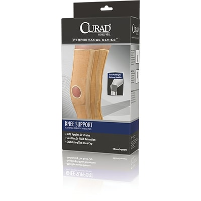 Curad® Knee Support with Cartilage Pads, Beige, 2XL, Retail Packaging, Each