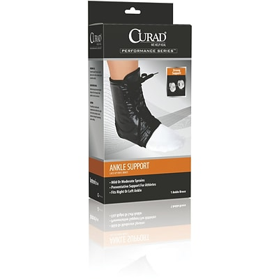 Curad® Lace-up Ankle Splints, XL, Retail Packaging, Each
