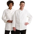Medline Knot Button Chef Coats; White, 36 Size