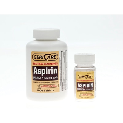 GeriCare Aspirin Tablets (Compare to Bayer® Aspirin), 325mg, 1000/Pack
