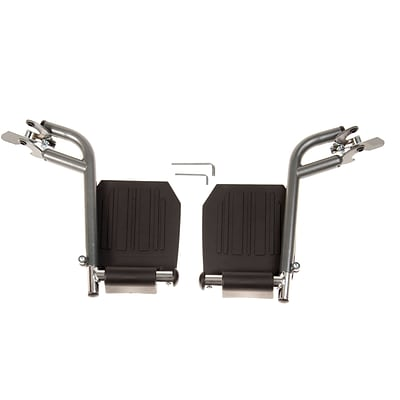 Medline Footrest Assemblies, Non Bariatric, K1 Basic Wheelchair Compatible