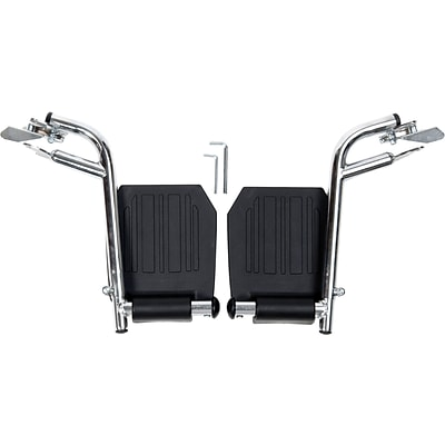 Medline Swing Away Footrests, Bariatric, Universal Wheelchairs Compatible