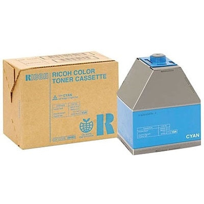 Ricoh® Cyan Toner Cartridge; 888343, High Yield
