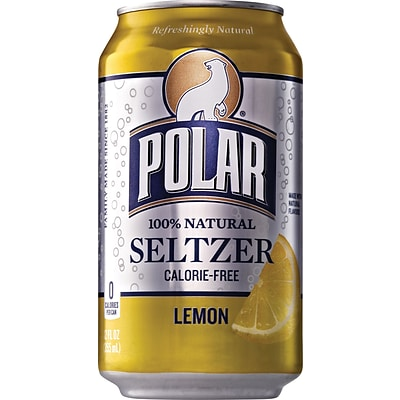 Polar® Lemon Seltzer, 12 oz. Cans, 24/Pack