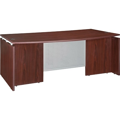 Lorell Ascent Bowfront Desk Shell, Mahogany