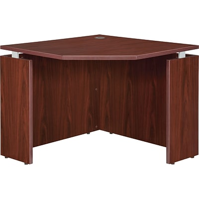 Lorell Ascent Corner Desk, Mahogany