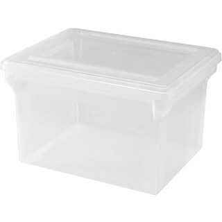 Lorell Plastic File Box, Clear, Letter/Legal (68925)