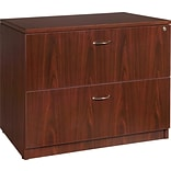 Lorell Essentials Lateral File, Mahogany