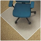 Lorell Low-pile Carpet Chairmats, Clear, 48
