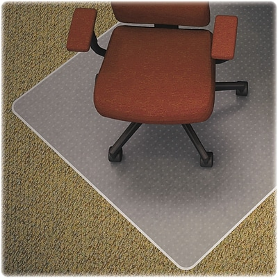 Lorell Medium-pile Carpet Chairmats, Clear, 48