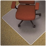 Lorell Medium-pile Carpet Chairmats, Clear