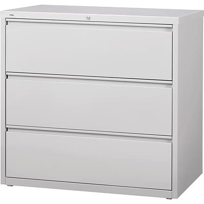 Lorell 3-Drawer Lt. Gray Lateral Files, Light Gray