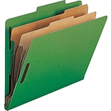 Nature Saver Classification Folder, Green, 2 Dividers, 10/Box