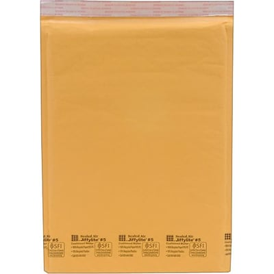 Self-Seal Cushioned Mailers, Side Seam, #5, 10.5 x 15,80/Ct