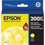 Epson 200XL Yellow Ink Cartridge (T200XL420); High Yield