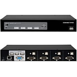 ConnectPro™ UR-14-KIT Master-IT USB KVM Switch; 4 Ports