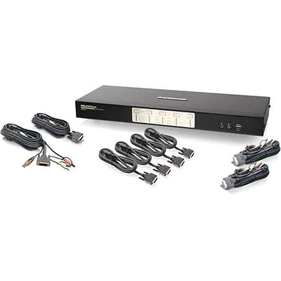 Iogear® GCS1644 Dual View Dual-Link DVI KVMP Switch With Audio; 12 Ports