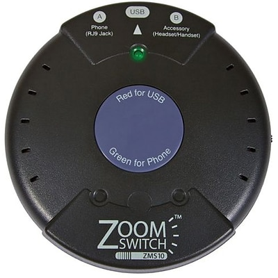ZoomSwitch™ ZMS10-C Headset Switch For Phone and PC VIA USB