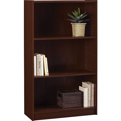 Hayden 3-Shelf Standard Bookcase, Cherry (9614016P)
