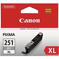 Canon CLI-251XLGY Gray Ink Cartridge (6452B001); High Yield