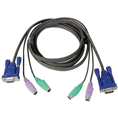 Iogear® Micro-Lite™ G2L5002P All-In-One PS/2 VGA KVM Cable; 6