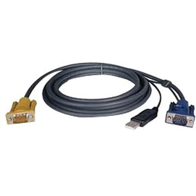 Tripp Lite P776-010 2-in-1 USB KVM Switch Cable Kit; 10