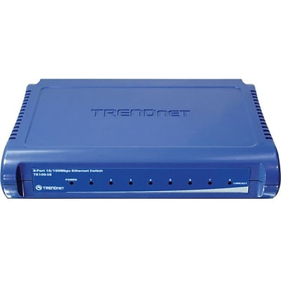 TRENDNET® TE100-S8 Ethernet Switch; 8 Ports