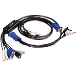 Startech SV215MICUSBA USB VGA Cable KVM Switch With Audio; 2.6, 10/Pack
