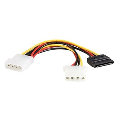 Startech Power Y Cable Adapter; 6(L) (PYO1LP4SATA)