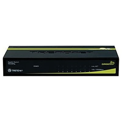 TRENDNET® TEG-S80G Gigabit GREENnet Switch; 8 Ports