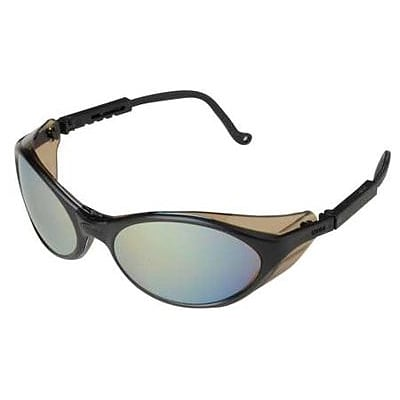 Sperian Bandit™ Safety Spectacle, Polycarbonate, Adjustable Temples & Wrap Around, Mirror, Black